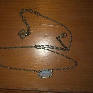 Silver chain white kendra Scott Elisa necklace